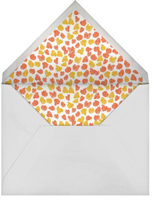 What a Beautiful Turkey - Yellow - Mr. Boddington's Studio - Thanksgiving - envelope back