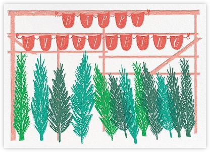 Trees on 67th Street - Green - Mr. Boddington's Studio - Holiday Cards