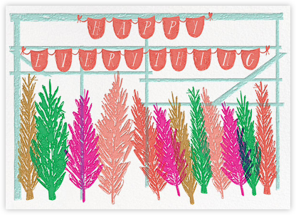 Trees on 67th Street - Multicolored - Mr. Boddington's Studio - Holiday Cards