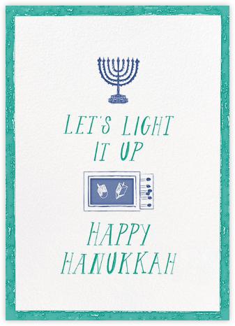 Where Are the Matches - Teal - Mr. Boddington's Studio - Hanukkah Cards