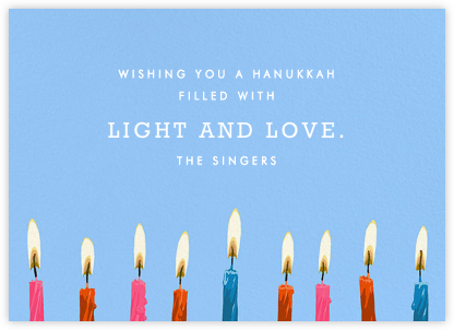Hanukkah Candles - Greeting - Hannah Berman - Hanukkah cards