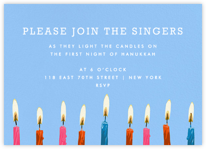 Hanukkah Candles - Invite | horizontal