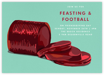 Cranberry Sauce - Invite - Hannah Berman - Thanksgiving invitations