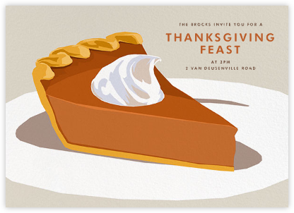 Pumpkin Pie - Hannah Berman - Thanksgiving invitations