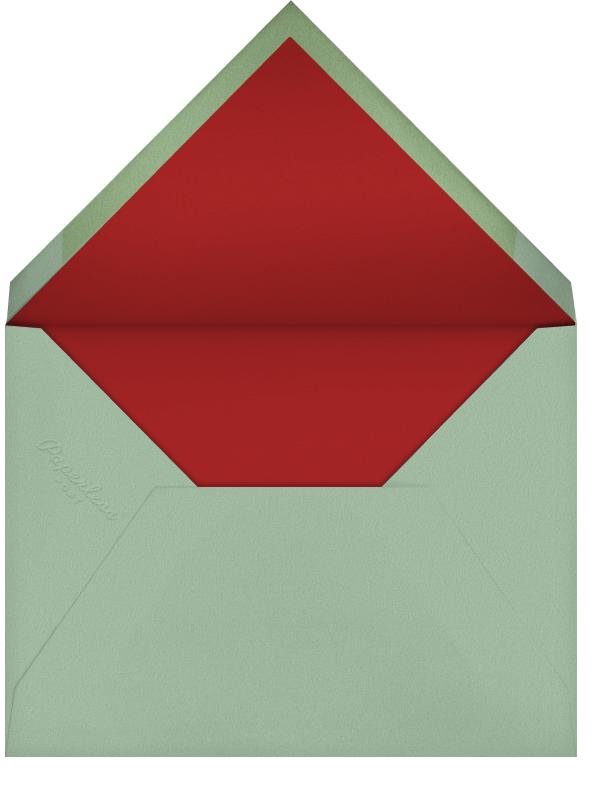 Black Bird Wreath (Becca Stadtlander) - Red Cap Cards - Envelope