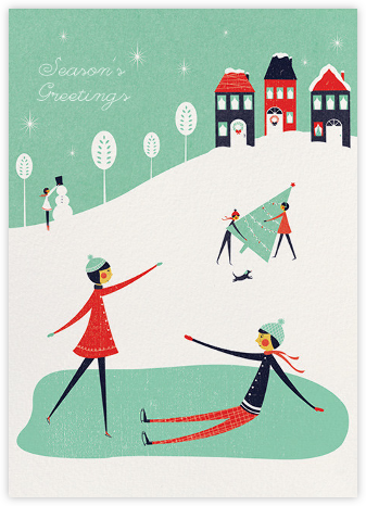 Snow Outside (Jill Labieniec) - Red Cap Cards - Christmas cards