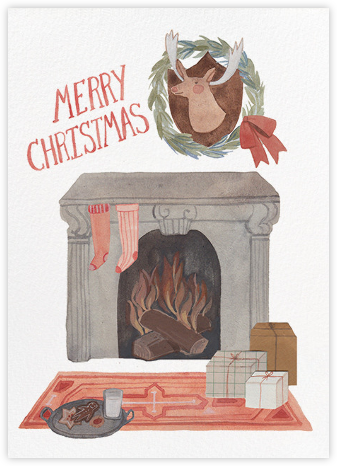 Christmas Fireplace (Kelsey Garrity Riley) - Red Cap Cards -