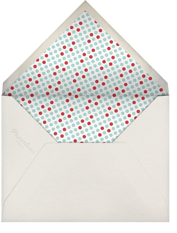 Happy Merry Jolly Stripes - Celadon - Paperless Post - Envelope