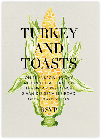 Silk and Husk - Paperless Post - Thanksgiving invitations