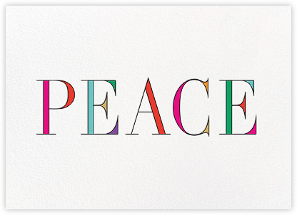Rainbow Peace - kate spade new york - New Year Cards
