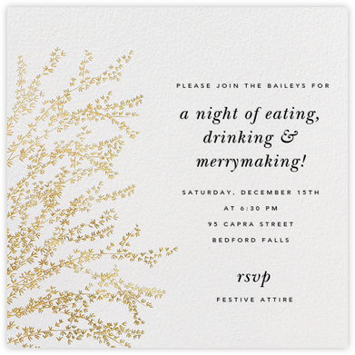 Forsythia - Gold - Paperless Post - Holiday party invitations