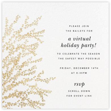 Forsythia - Gold - Paperless Post - Winter Party Invitations