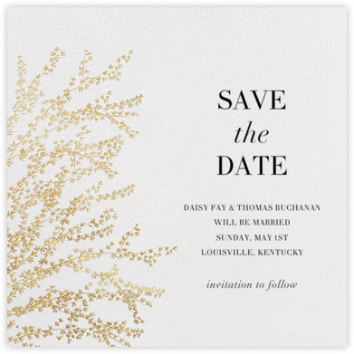 Forsythia - Gold - Paperless Post - Save the date cards and templates
