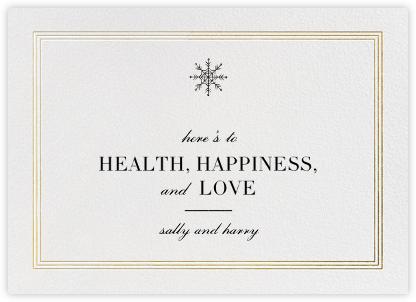 Triple Interior Border (Horizontal) - Gold - Paperless Post - Company holiday cards