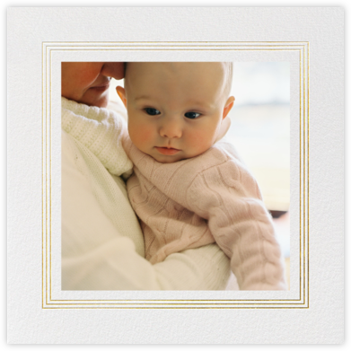 Triple Interior Border (Square Photo) - Gold - Paperless Post - Holiday Cards
