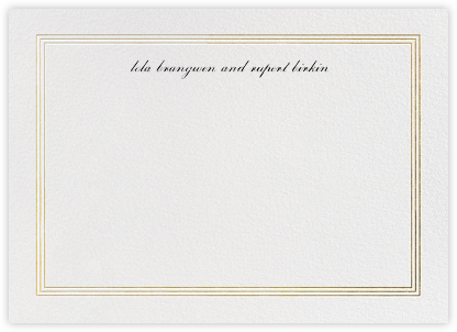 Triple Interior Border (Horizontal) - Gold | horizontal