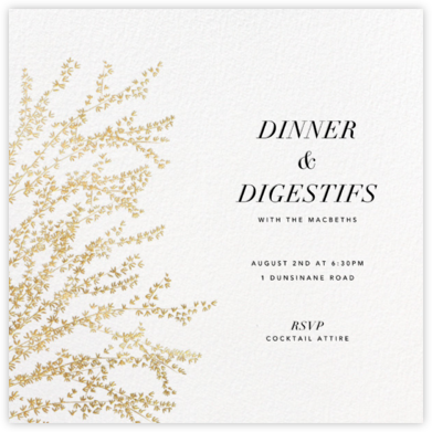 Forsythia - Gold - Paperless Post - Dinner Party Invitations