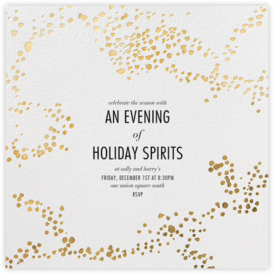 Evoke (Square) - White/Gold - Kelly Wearstler - Holiday invitations