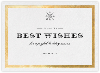 Foiled Frame (Horizontal) - Gold - Paperless Post - Holiday Cards