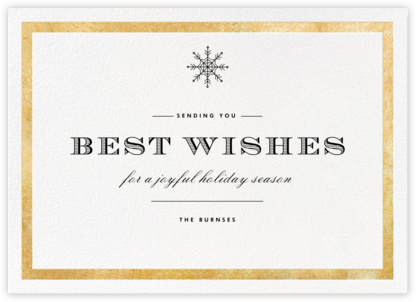 Foiled Frame (Horizontal) - Gold - Paperless Post - Business holiday cards