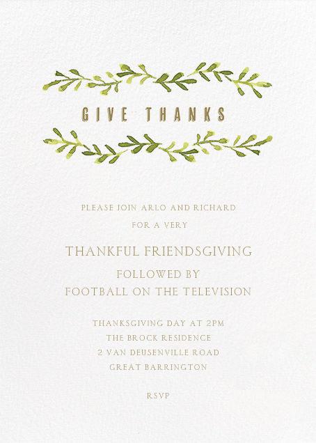 Autumn Vines - Paper + Cup - Thanksgiving invitations