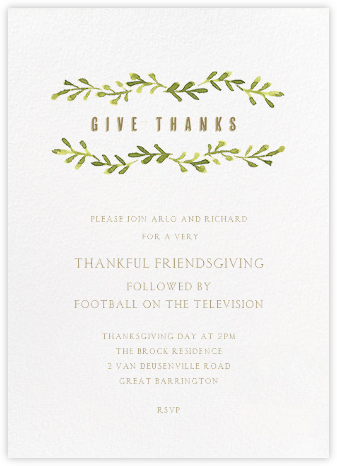 Autumn Vines - Paper + Cup - Thanksgiving invitations