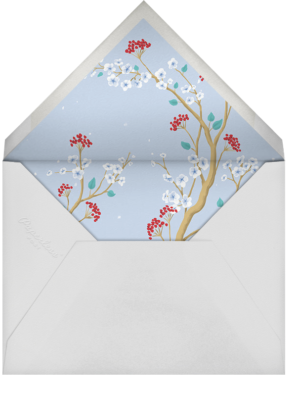 Winter Chinoiserie - Paperless Post - Winter parties - envelope back