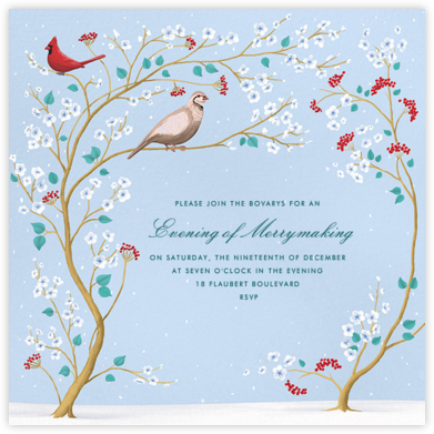 Winter Chinoiserie - Paperless Post - Winter Party Invitations
