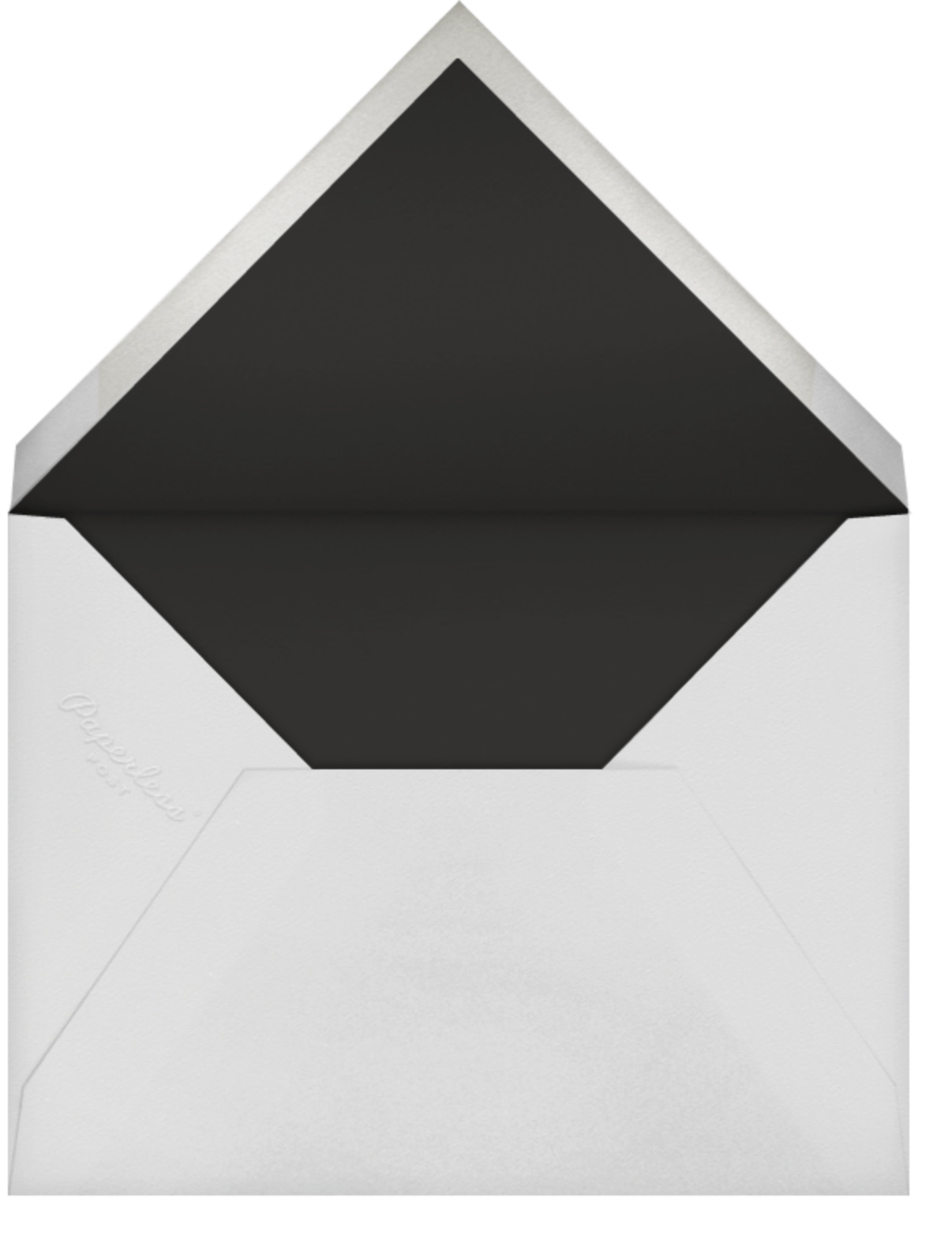 Gardenia (Save the Date) - White/Gold - Oscar de la Renta - Save the date - envelope back