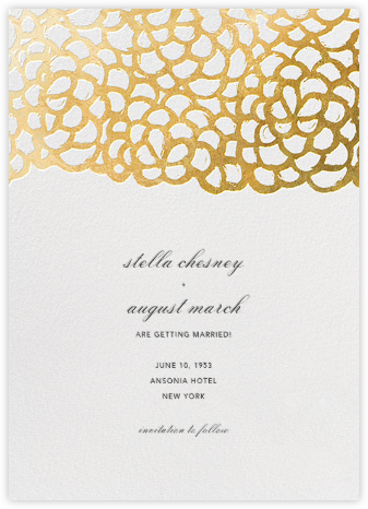 Gardenia (Save the Date) - White/Gold - Oscar de la Renta - Save the dates