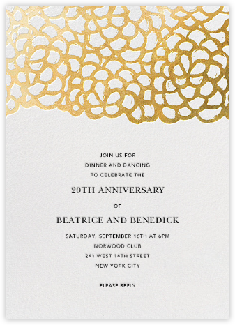 Gardenia - White/Gold - Oscar de la Renta - Celebration invitations