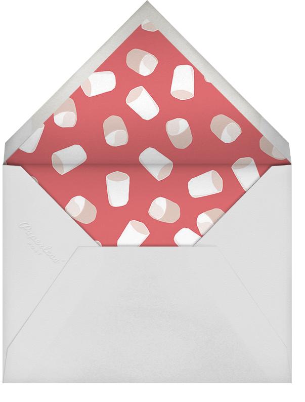 Hot Cocoa - Hannah Berman - Holiday cocktail party invitations - envelope back