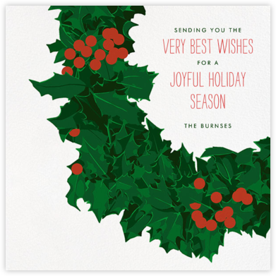 Wreath - Hannah Berman - Company holiday cards