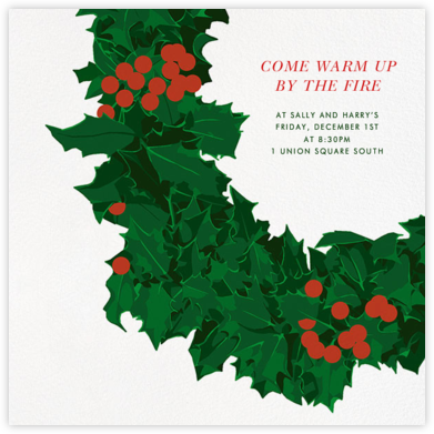 Wreath - Hannah Berman - Holiday invitations