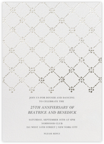 Pearl Embroidery (Tall) - Silver - Oscar de la Renta -
