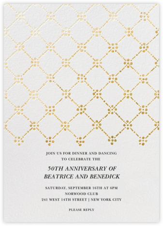 Pearl Embroidery (Tall) - Gold - Oscar de la Renta