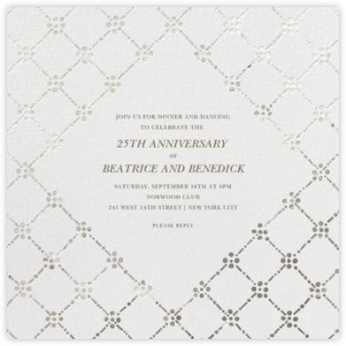 Pearl Embroidery (Square) - Silver - Oscar de la Renta -
