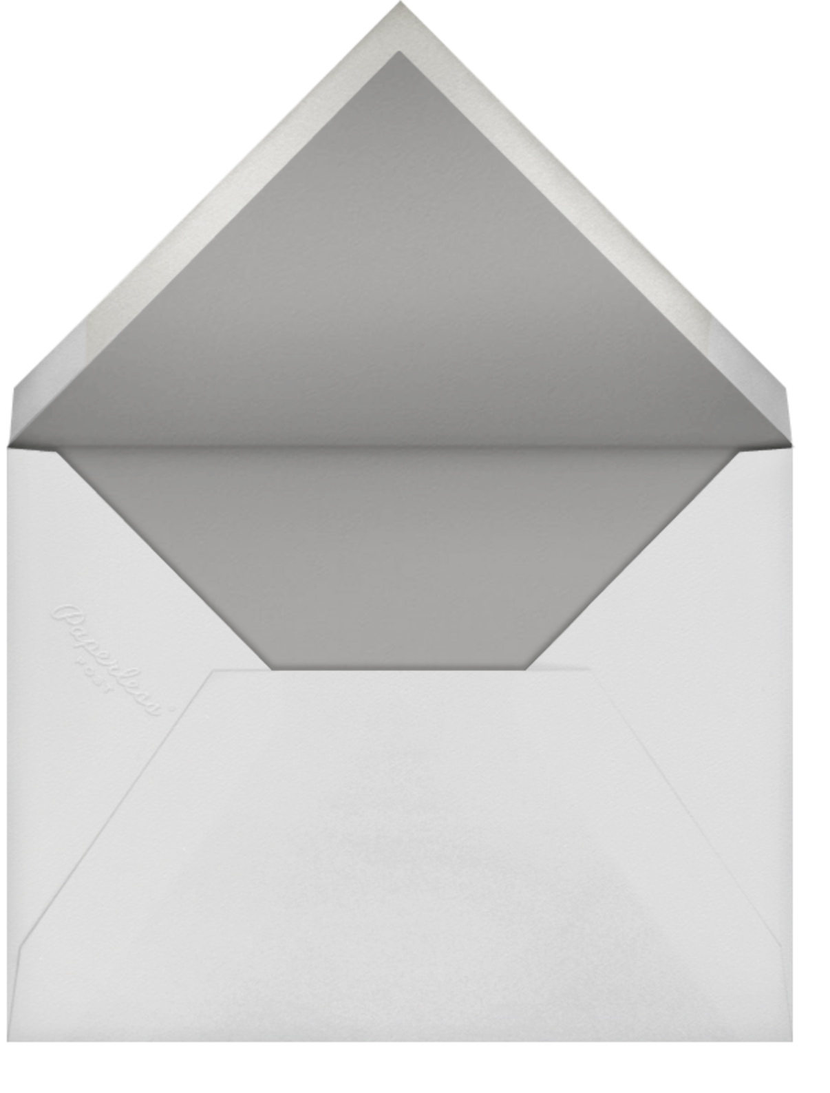 Pearl Embroidery (Square) - Silver - Oscar de la Renta - Engagement party - envelope back