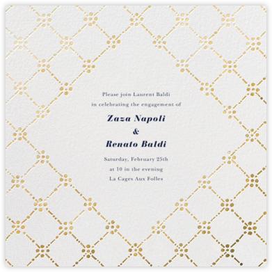 Pearl Embroidery (Square) - Gold - Oscar de la Renta -