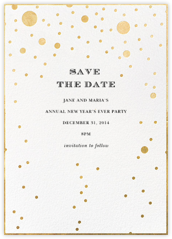 Champagne Bubbles (Single-Sided) - kate spade new york - Holiday Save the Dates