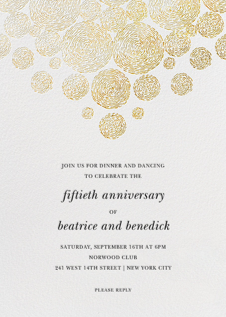 Anniversary invitations party invitations online at Paperless Post