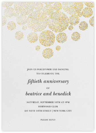 Radiant Swirls (Tall) - Oscar de la Renta - Celebration invitations