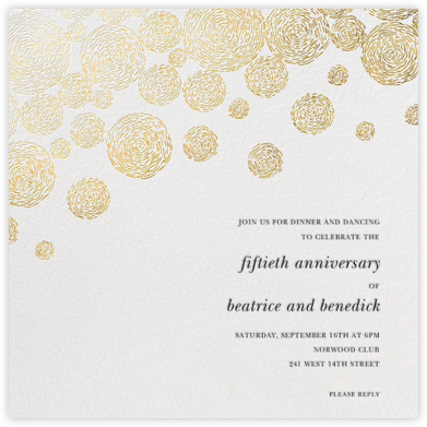 Radiant Swirls (Square) - Oscar de la Renta - Celebration invitations