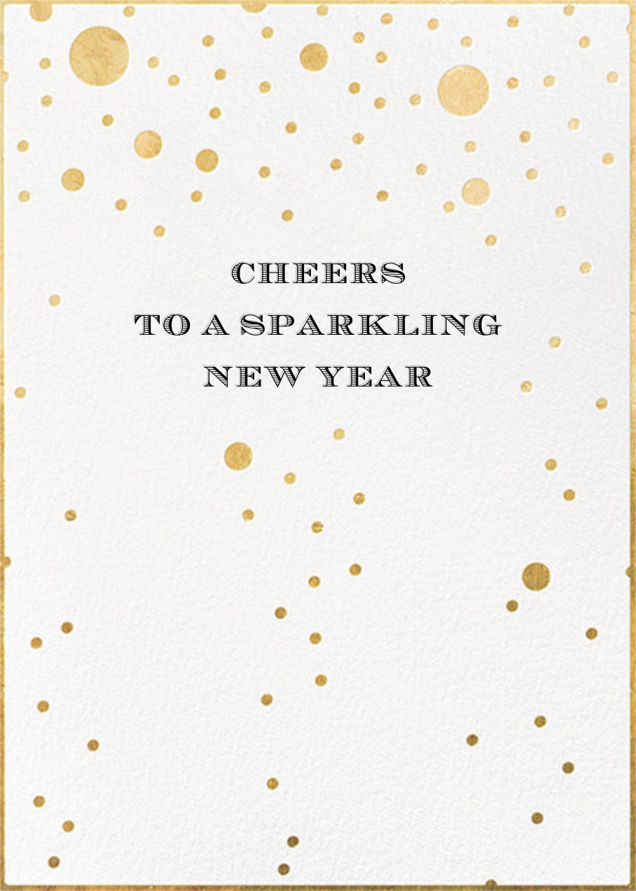 Champagne Bubbles (Double-Sided) - kate spade new york - New Year's Eve