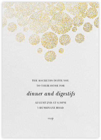 Radiant Swirls (Tall) - Oscar de la Renta - Dinner party invitations