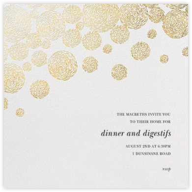 Radiant Swirls (Square) - Oscar de la Renta - Dinner party invitations