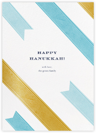 Wrapped Up Wishes (Hanukkah) - kate spade new york - Hanukkah Cards