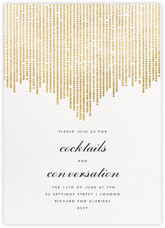 Josephine Baker - White/Gold - Paperless Post - General Entertaining Invitations