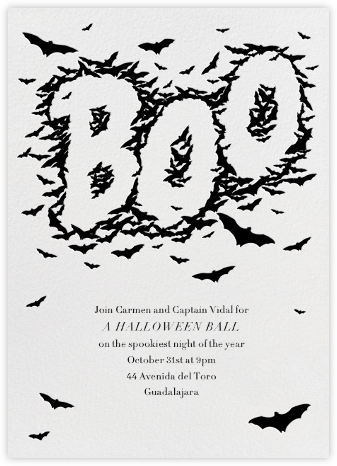 Bats Say Boo - Paperless Post - Halloween invitations