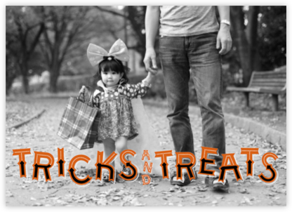 Tricks and Treats (Photo) - Paperless Post - Halloween cards